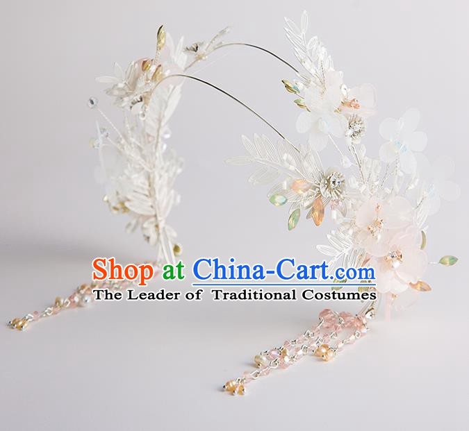 Handmade Classical Wedding Hair Accessories Bride Tassel Hair Clasp Headband for Women