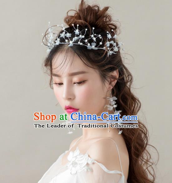 Handmade Classical Wedding Accessories Bride Hair Clasp and Tassel Earrings for Women