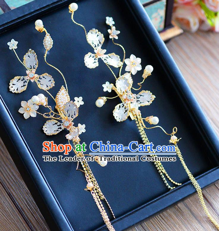 Handmade Classical Wedding Accessories Bride Ear Pendant Tassel Earrings for Women