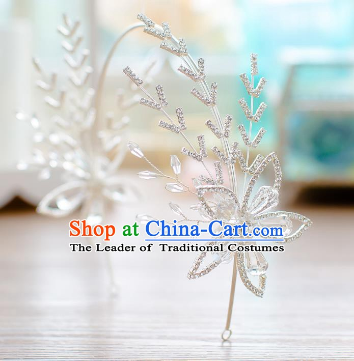 Handmade Classical Wedding Hair Accessories Bride Crystal Hair Clasp Headband for Women