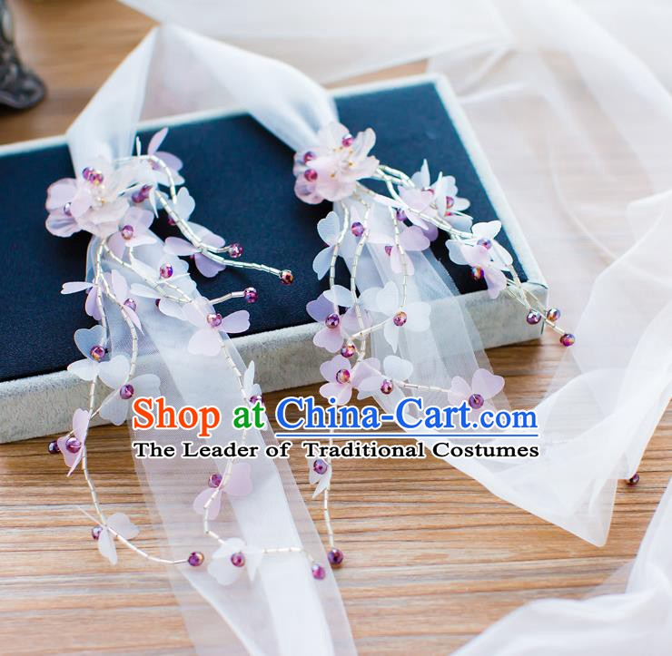 Handmade Classical Wedding Hair Accessories Bride Hair Clasp Silk Headband for Women