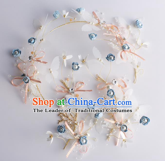 Handmade Classical Wedding Hair Accessories Bride Headband Hair Stick Headwear for Women
