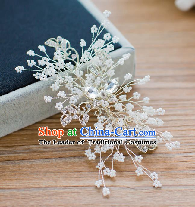 Handmade Classical Wedding Hair Accessories Bride Crystal Hair Stick Headband for Women