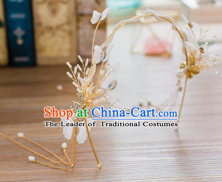 Handmade Classical Wedding Hair Accessories Bride Hair Clasp Crown for Women