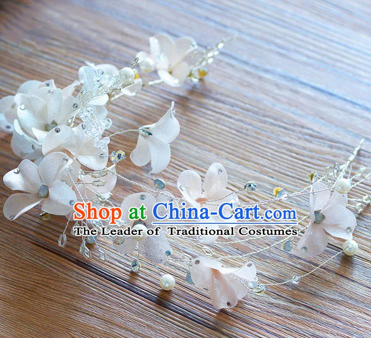 Handmade Classical Wedding Hair Accessories Bride Headwear Flowers Pearls Hair Clasp for Women