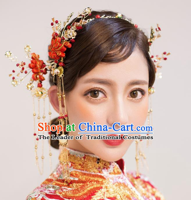 Chinese Handmade Classical Hair Accessories Ancient Palace Chinese Knots Hair Clasp Hairpins for Women