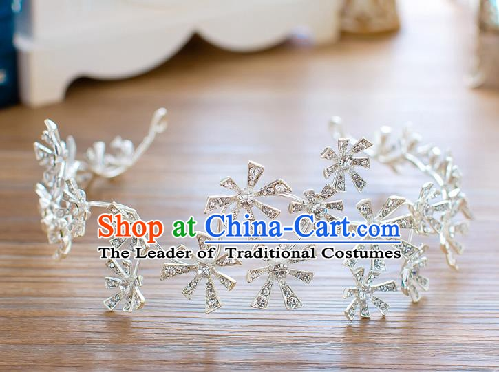 Handmade Classical Hair Accessories Baroque Crystal Royal Crown Princess Hair Clasp for Women