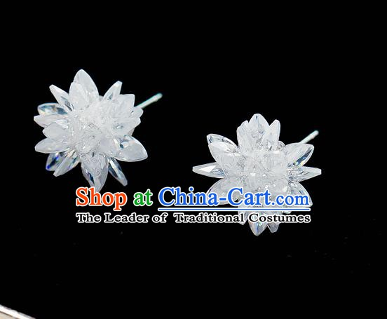 Handmade Classical Wedding Accessories Bride Crystal Earrings for Women
