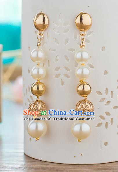 Handmade Classical Wedding Accessories Bride Beads Earrings for Women