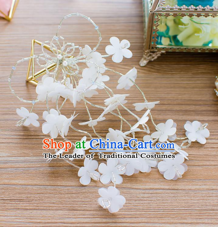Handmade Classical Wedding Hair Accessories Bride Flowers Hair Claw Headband for Women