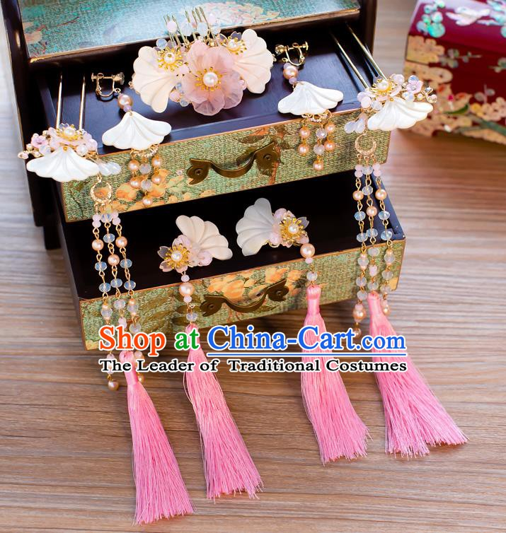 Chinese Handmade Classical Hair Accessories Ancient Hair Comb Shell Hair Clip Hairpins for Women