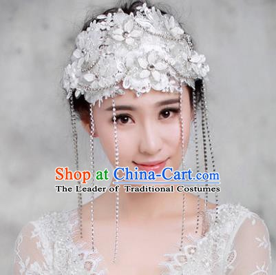 Handmade Classical Wedding Hair Accessories Bride Tassel Hair Coronet Headwear for Women