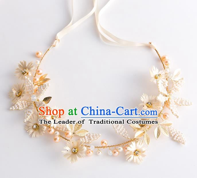 Handmade Classical Wedding Hair Accessories Bride Flowers Headband Hair Clasp Headwear for Women
