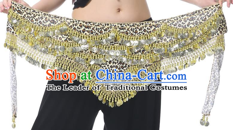 Indian Belly Dance Leopard Waistband India Raks Sharki Paillette Belts Waist Accessories for Women