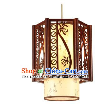 Traditional Chinese Hanging Palace Lanterns Handmade Lotus Lantern Ancient Ceiling Lamp