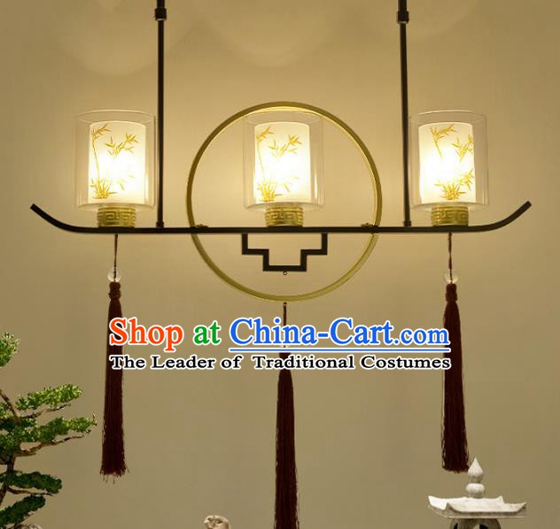 Traditional Chinese Printing Bamboo Hanging Ceiling Palace Lanterns Handmade Lantern Ancient Lamp