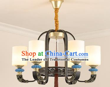 Traditional Chinese Hanging Ceiling Palace Lanterns Handmade Six-Lights Lantern Ancient Lamp