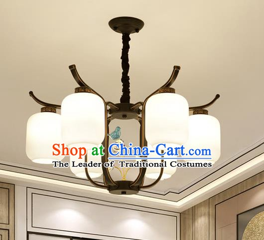 Traditional Chinese Style Ceiling Palace Lanterns Handmade Six-Lights Lantern Ancient Lamp