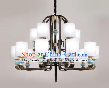 Traditional Chinese Hanging Ceiling Palace Lanterns Handmade Fifteen-Lights Lantern Ancient Lamp