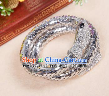 Indian Bollywood Belly Dance Accessories Argent Bracelet for Women