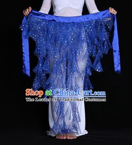 Indian Belly Dance Royalblue Waist Scarf Waistband India Raks Sharki Belts for Women