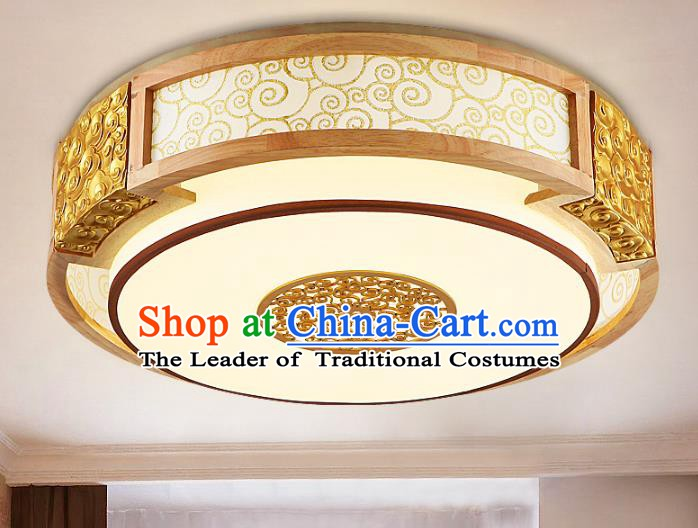 Traditional Chinese Golden Palace Lanterns Handmade Lantern Ancient Ceiling Lamp