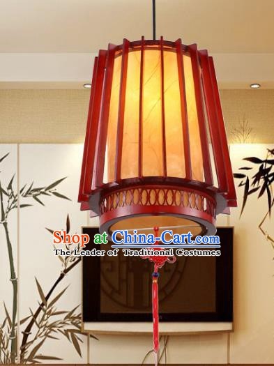 Traditional Chinese Wood Ceiling Palace Lanterns Handmade Hanging Lantern Ancient Lamp