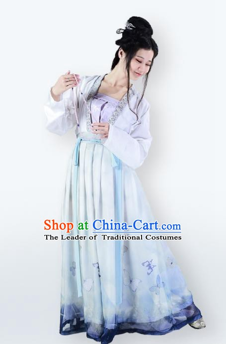 Traditional Chinese Ancient Song Dynasty Palace Princess Dress Clothing for Women