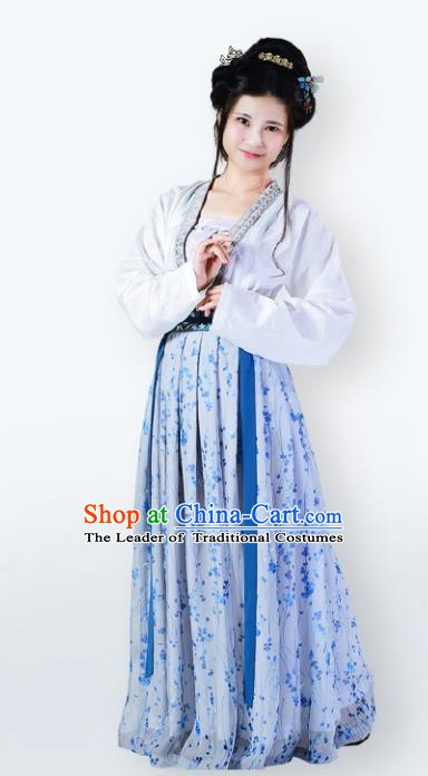 Traditional Chinese Ancient Contadina Costume Song Dynasty Young Lady Dress Clothing for Women