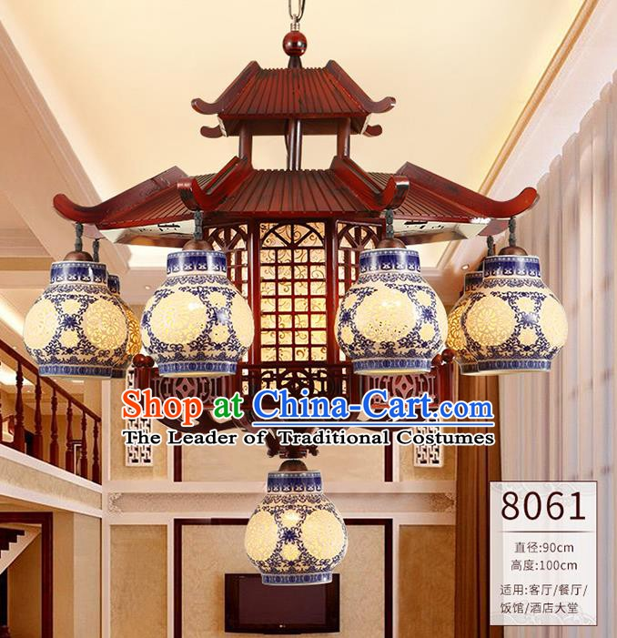 Traditional Chinese Ceiling Palace Lanterns Handmade Wood Lantern Ancient Lamp