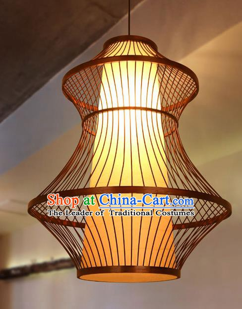 Traditional Chinese Bamboo Weaving Hanging Lanterns Handmade Lantern Ancient Lamp