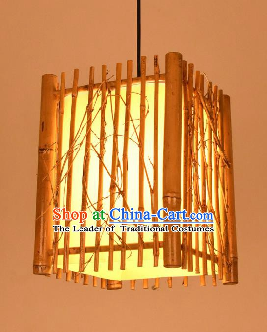 Traditional Chinese Bamboo Hanging Lanterns Handmade Ceiling Lantern Ancient Lamp