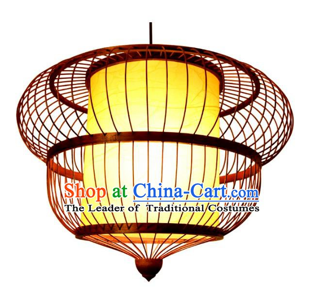 Traditional Chinese Rattan Lanterns Handmade Hanging Ceiling Lantern Ancient Lamp