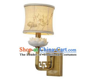 Traditional China Ancient Brass Lotus Wall Lanterns Handmade Lantern Ancient Lamp