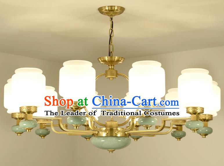 Traditional Chinese Ten-Lights Ceiling Lanterns Ancient Handmade Lantern Ancient Lamp