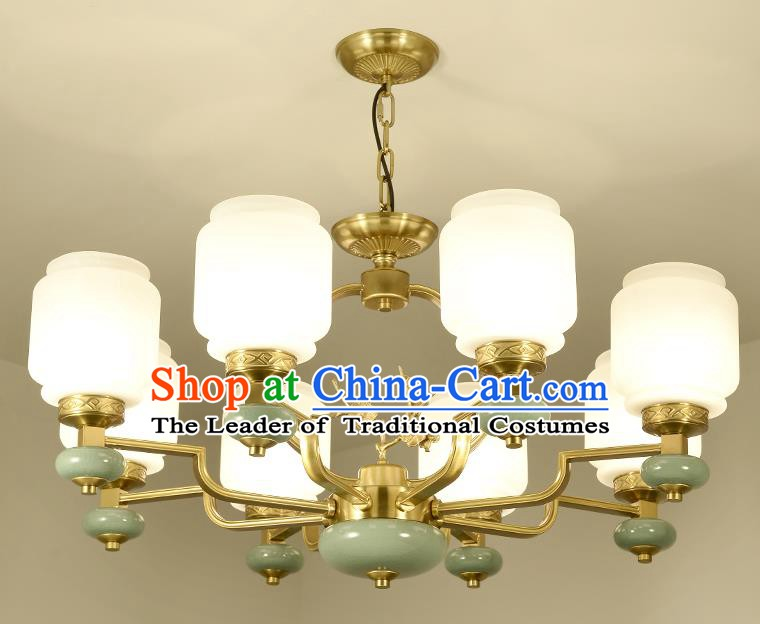 Traditional Chinese Eight-Lights Ceiling Lanterns Ancient Handmade Lantern Ancient Lamp