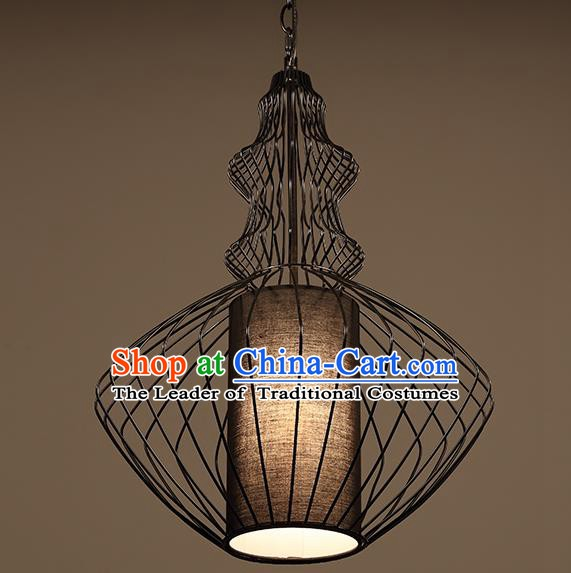 Traditional Chinese Iron Birdcage Ceiling Lanterns Ancient Handmade Lantern Ancient Lamp