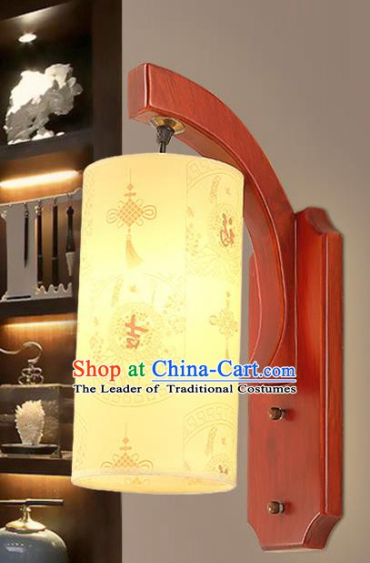 Traditional China Ancient Painting Chinese Knots Lanterns Handmade Wood Lantern Ancient Wall Lamp