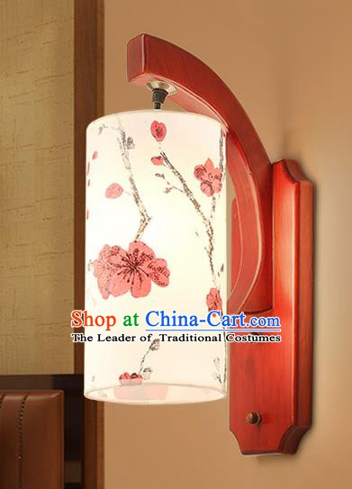 Traditional China Ancient Painting Plum Blossom Lanterns Handmade Wood Lantern Ancient Wall Lamp