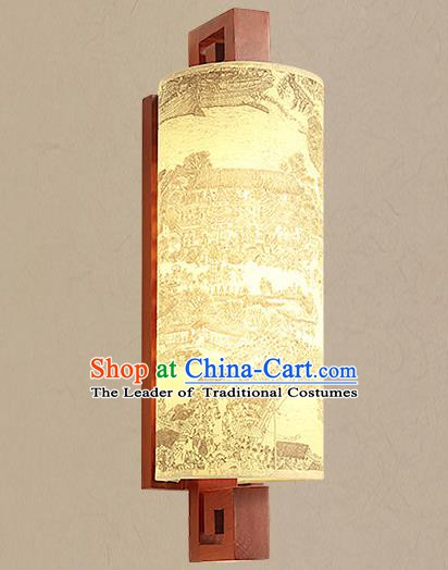 Traditional China Ancient Painted Lanterns Handmade Wood Lantern Ancient Wall Lamp