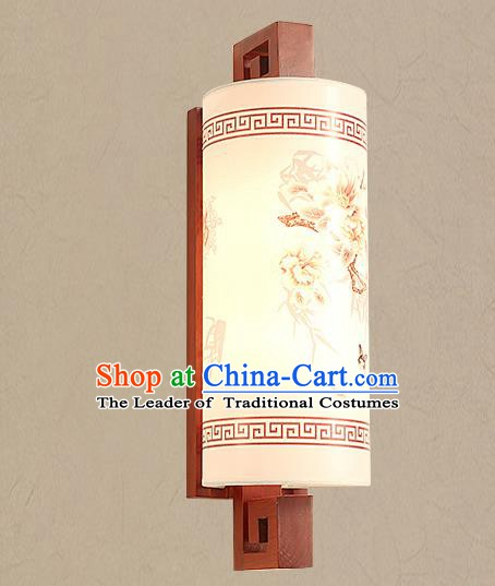 Traditional China Ancient Painted Parchment Lanterns Handmade Wood Lantern Ancient Wall Lamp