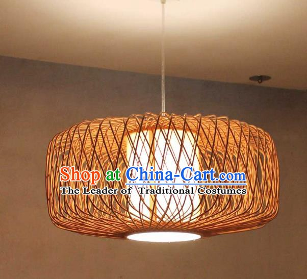 Traditional Asian Straw Plaited Lanterns Handmade Hanging Ceiling Lantern Ancient Lamp