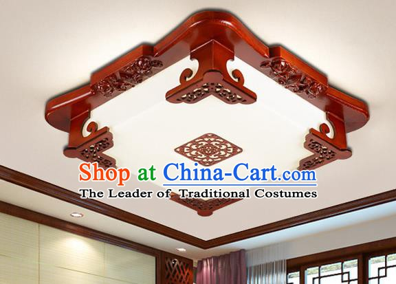 Traditional Chinese Ceiling Lanterns Handmade Wood Palace Lantern Ancient Lamp