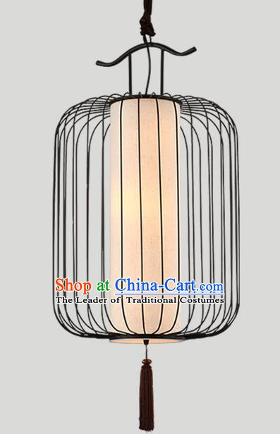 Traditional Chinese Iron Birdcage Hanging Lanterns Ancient Handmade Lantern Ancient Lamp
