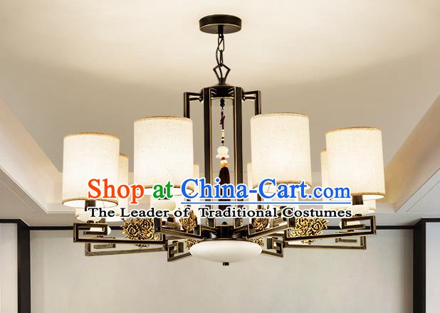 Traditional Handmade Chinese Eight-Lights Hanging Lanterns Ancient Ceiling Lantern Ancient Lamp
