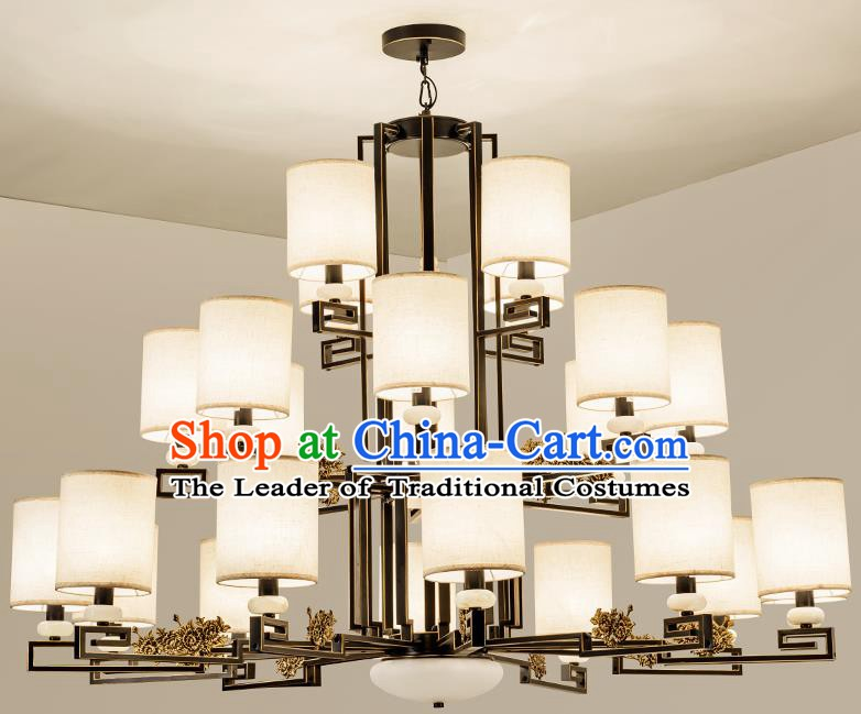 Traditional Handmade Chinese Twenty-four-Lights Hanging Lanterns Ancient Ceiling Lantern Ancient Lamp
