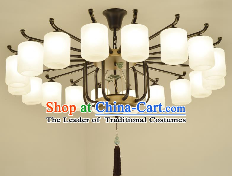 Traditional Handmade Chinese Palace Lanterns Ancient Eighteen-Lights Ceiling Lantern Ancient Lamp