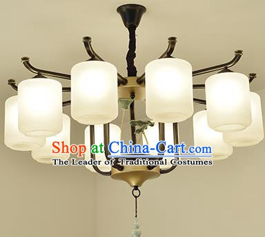 Traditional Handmade Chinese Palace Lanterns Ancient Ten-Lights Ceiling Lantern Ancient Lamp