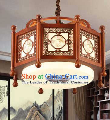 Traditional Chinese Handmade Hanging Lantern Asian Wood Ceiling Lanterns Ancient Lantern