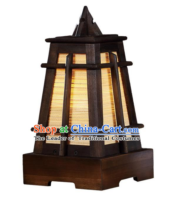 Handmade Thailand Lantern Asian Lanterns Religion Wood Desk Lantern Traditional Lamp